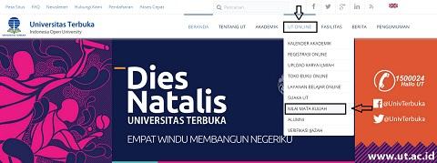 Mengecek dan Melihat Nilai Pendas S1 PGSD UT 2016.1 di www.ut.ac.id