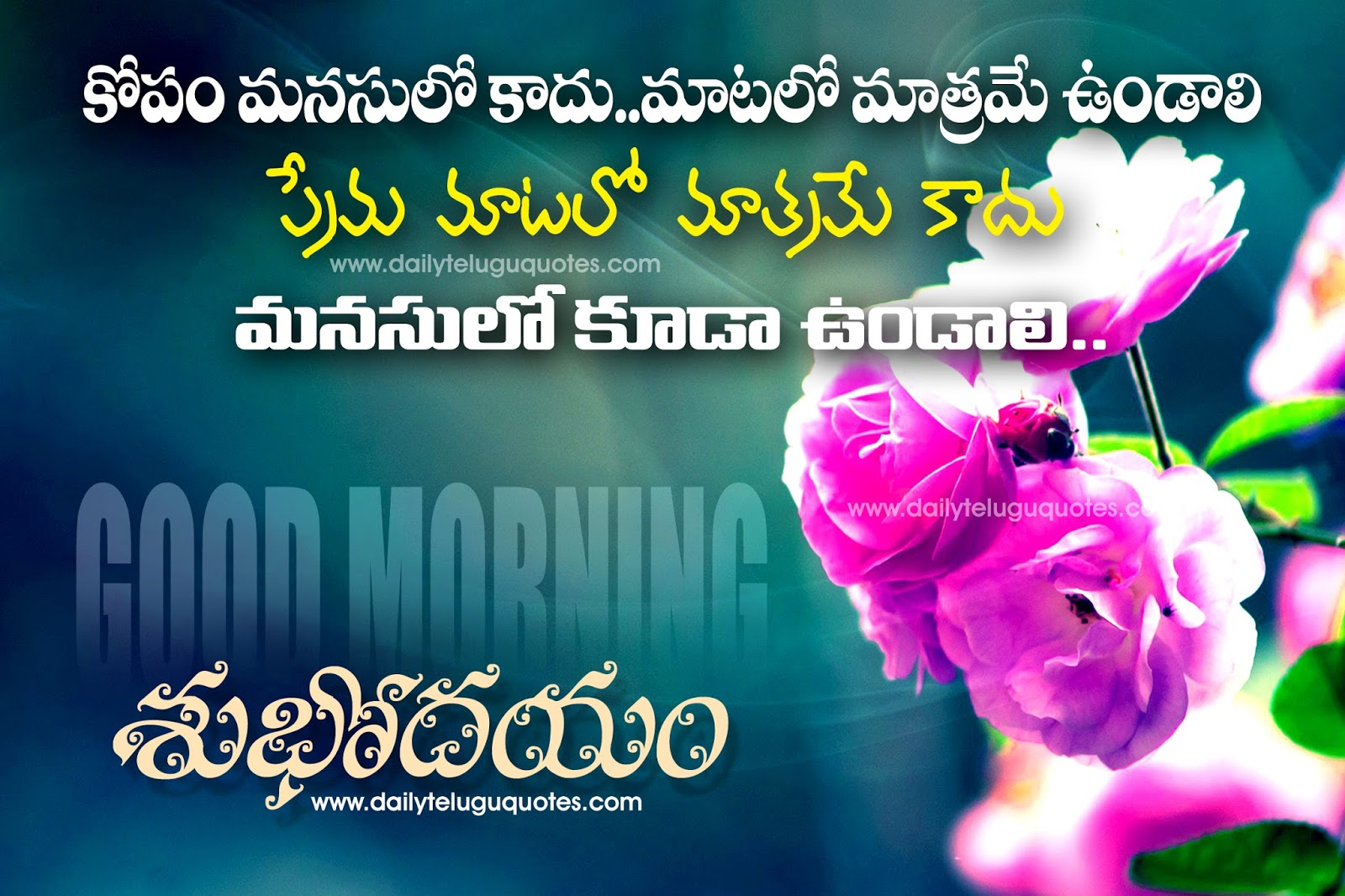 Good Morning Quotes Images In Telugu For Whatsapp