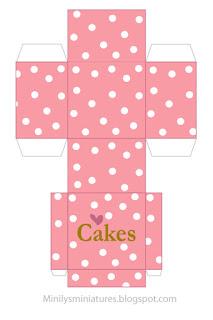 """minilys miniatures"" ""printable box"" ""pink"" 1:12 macarons"