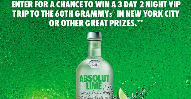 ABSOLUT GRAMMYS SWEEPSTAKES
