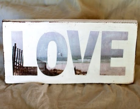 photo letters love sign