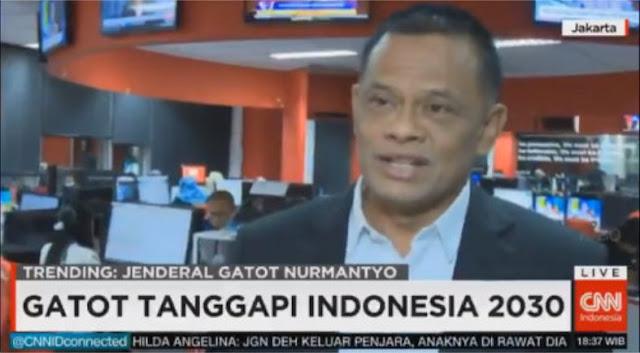 VIDEO: Jawaban Berkelas Jenderal Gatot Tanggapi 'Indonesia Bubar 2030'