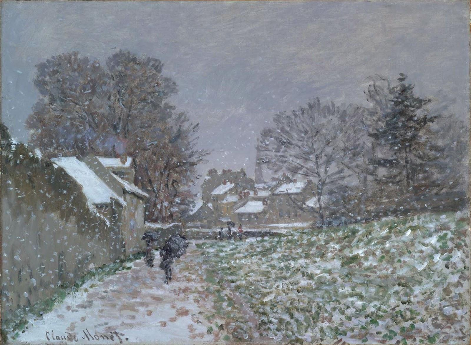 Artventures Monet S Paintings Of Snow