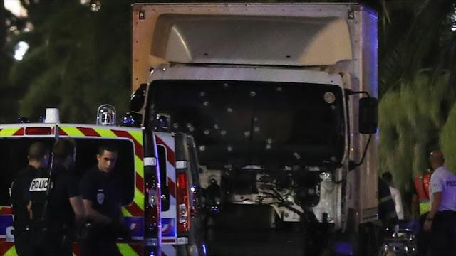 Camión de ataque en Niza estaba equipado con parabrisas antibalas