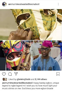 Could this be the real face of legendary singer Lagbaja? (Photo)