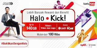 Dapatkan Kuota Lebih besar Dari Telkomsel dengan Halo Kick