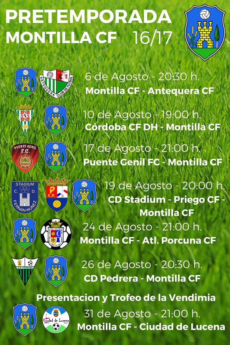 Montilla CF: Calendario de pretemporada 16-17