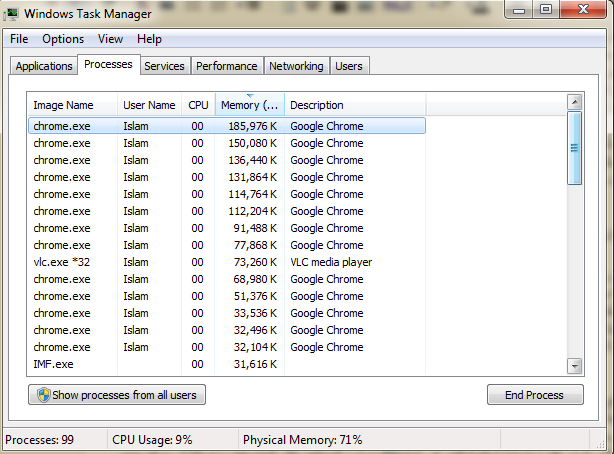 صورة لـ Windows Task Manager