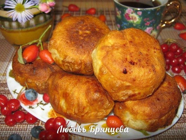 яблочные пирожки жаренные без дрожжей