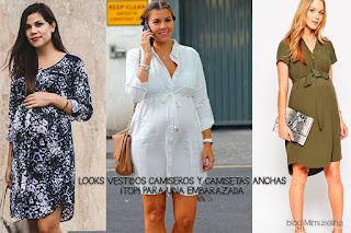 blog mimuselina vestido camisero ropa embarazada premamá trucos