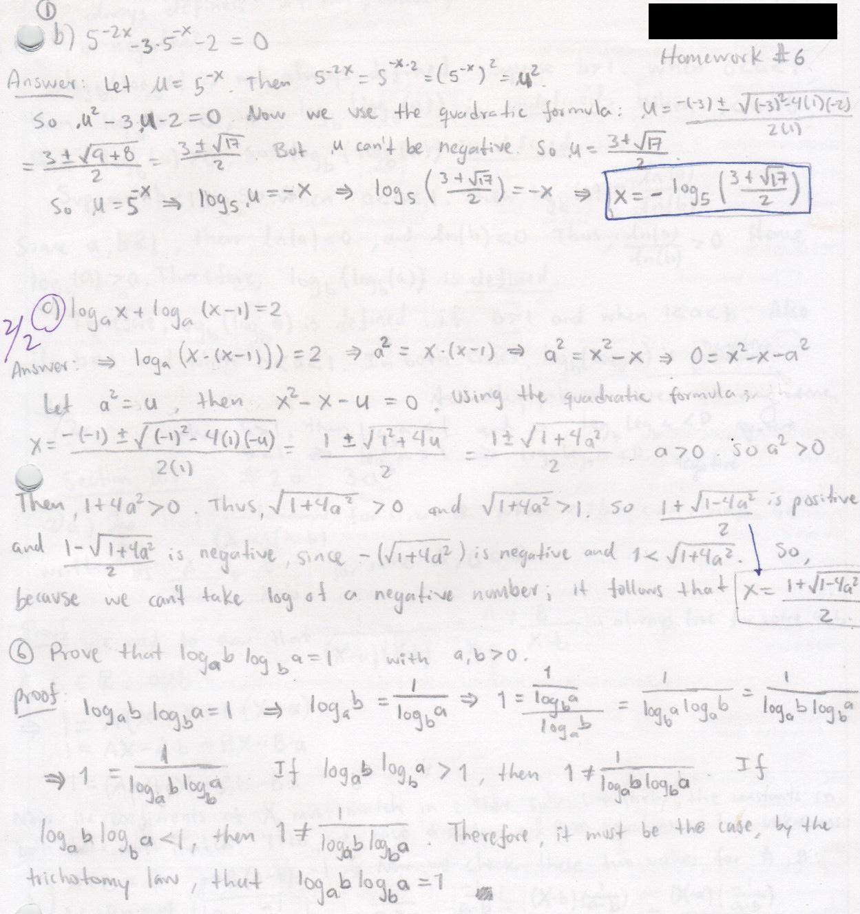 My old math homework from UC Berkeley : Math 152 hw6