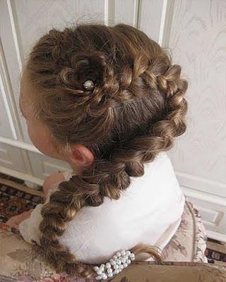 peinados infantiles con trenzas faciles