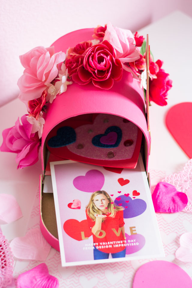 This floral mailbox is such a fun Valentine holder idea!