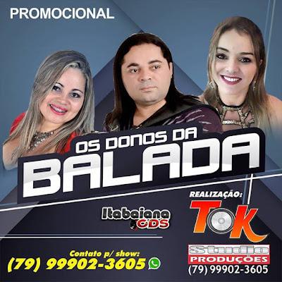 Os Donos da Balada - CD Promocional - 2016