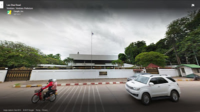 South Korean Embassy in Vientiane Laos - Google streetview