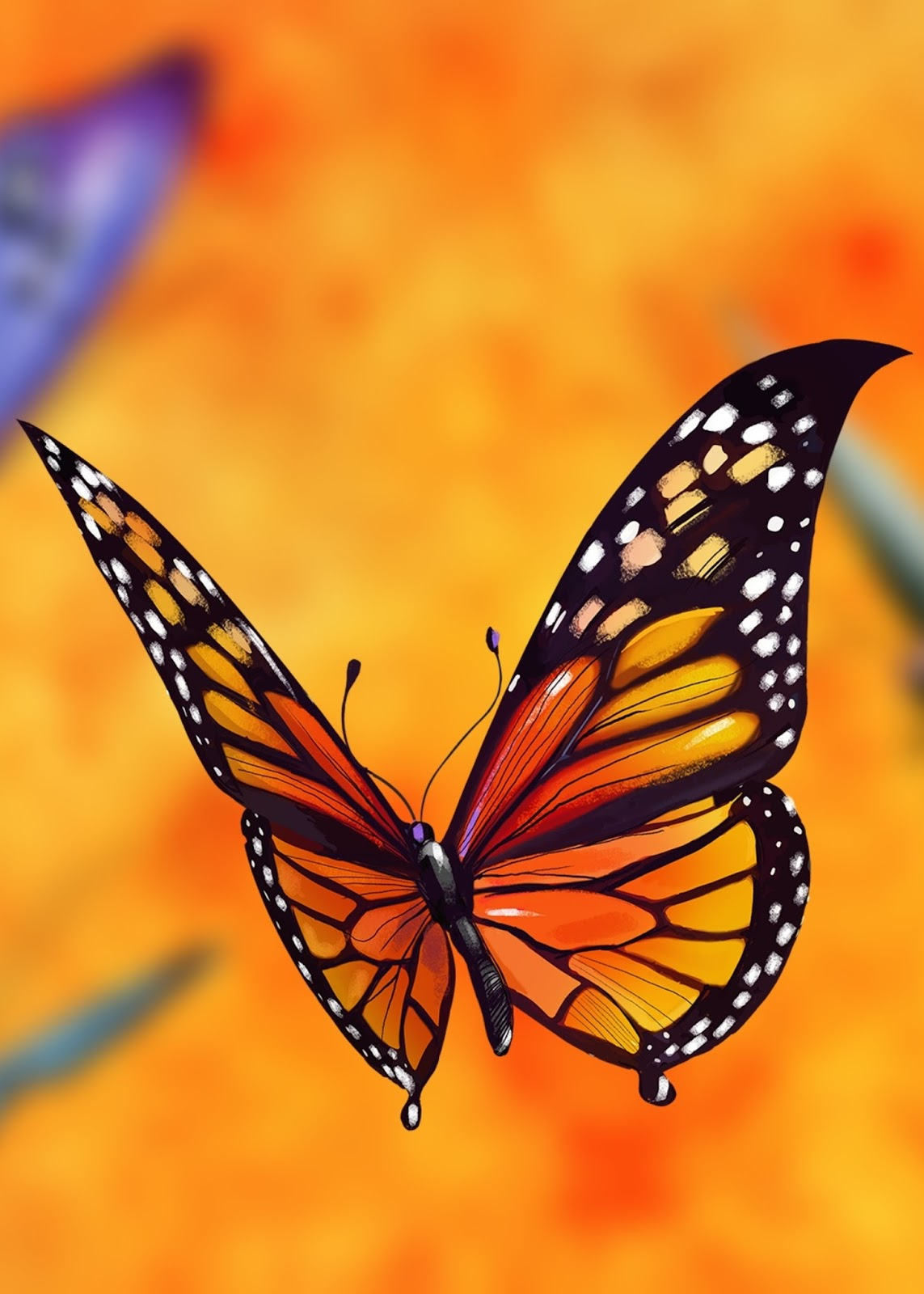A animated butterfly flying.