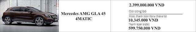 Giá xe Mercedes AMG GLA 45 4MATIC 2019 tại Mercedes Trường Chinh