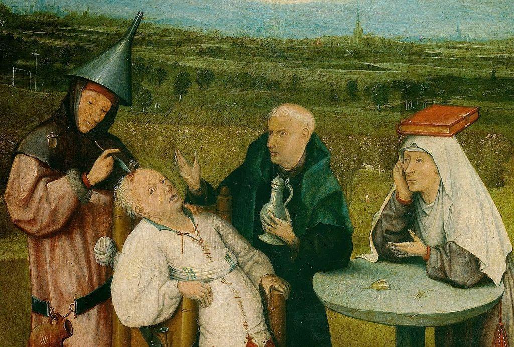 Αποτέλεσμα εικόνας για hieronymus bosch θεραπεία τρέλας