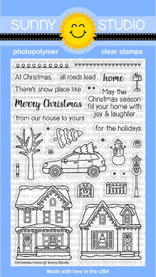 Sunny Studio Stamps: Christmas Home house themed winter holiday 4x6 clear photopolymer stamps