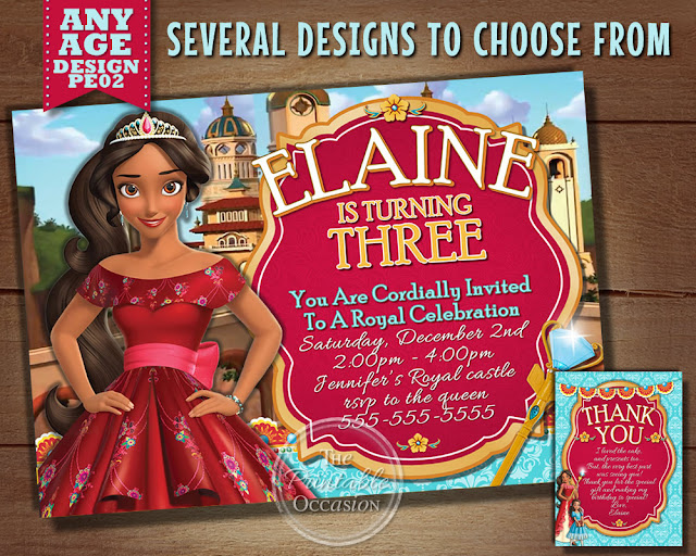 Princess Elena Of Avalor Birthday Party Invitations And Thank You Cards