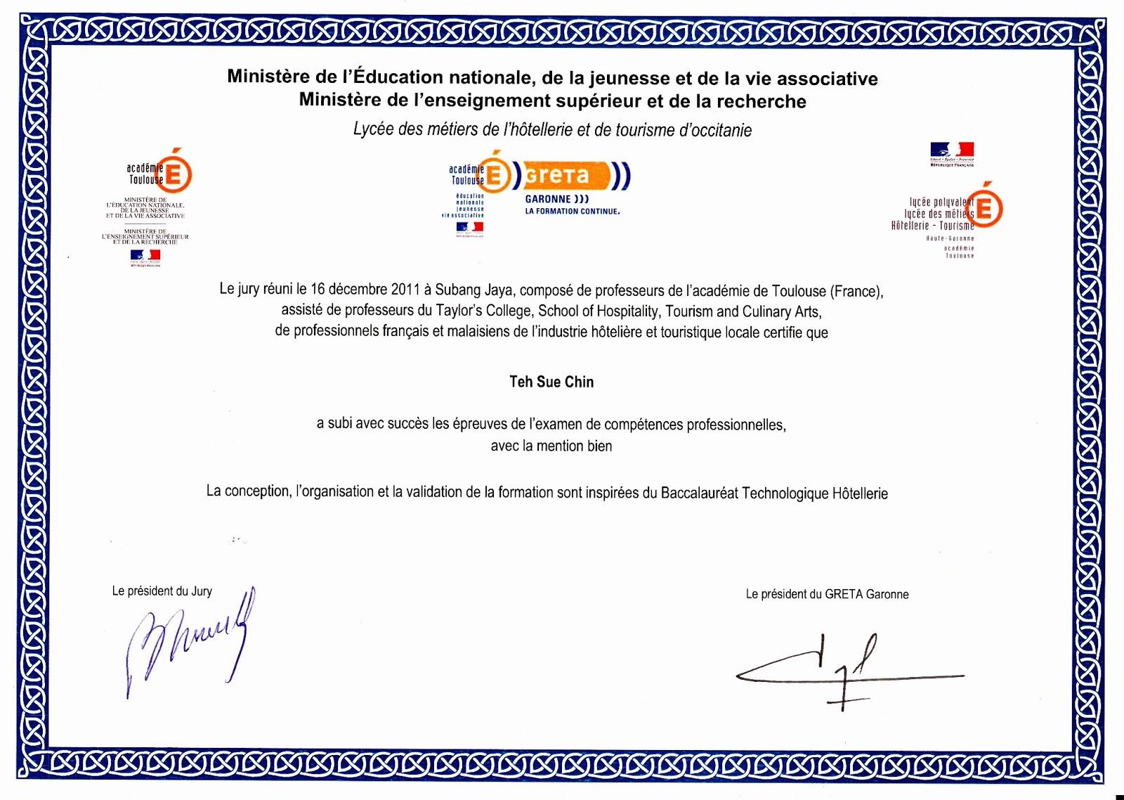 Hospitality Certificate Programs Free Professional Resume