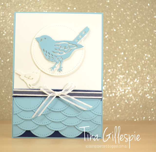 scissorspapercard, Stampin' Up!, Art With Heart, Stitched Shapes, Birds and Blooms