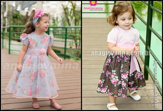 30 Vestidos florais para festa infantil