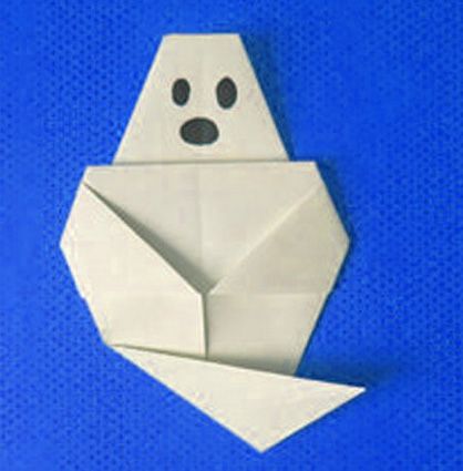 Easy Ghost Origami For Halloween