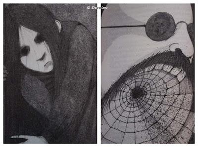 Ejemplos de ilustraciones con tintes oscuros de Los imaginarios
