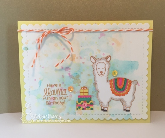 Have a llama fun on your birthday by Debbie features Loveable LLamas and Frames & Flags by Newton's Nook Designs; #newtonsnook