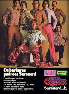 propaganda camisas Saranord - 1971. Brazil fashion in the 70's, 1970; moda anos 70; propaganda anos 70; história da década de 70; reclames anos 70; brazil in the 70s; Oswaldo Hernandez