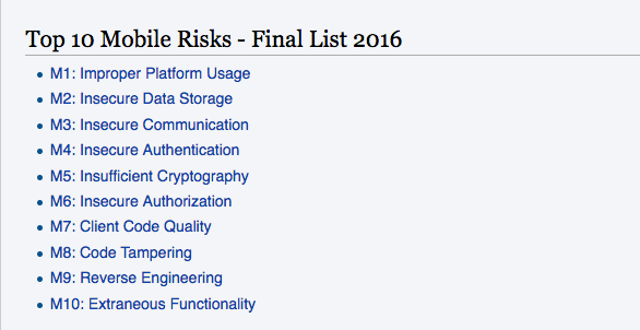 Top 10 Mobile Risks OWASP imagen