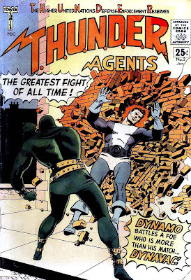 Thunder Agents v1 #2 tower silver age 1960s comic book cover art by Wally Wood