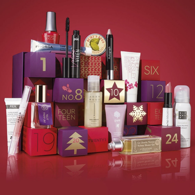 Mark and Spencer M&S beauty Advent calendar