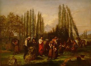La Cueillette du houblon en Alsace