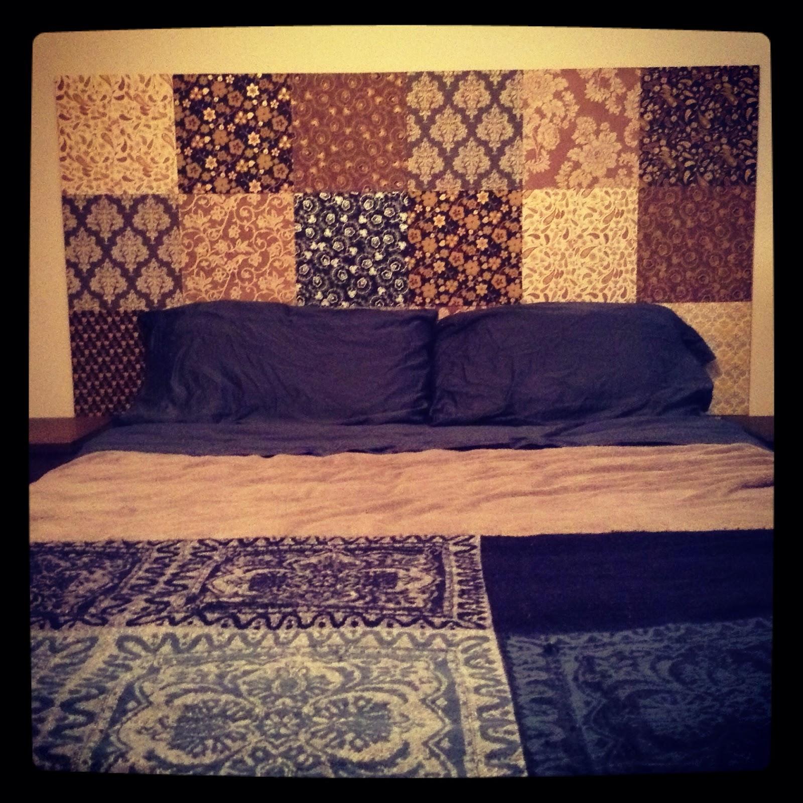 m4rilynj0y diy wall mounted headboard completed. Black Bedroom Furniture Sets. Home Design Ideas