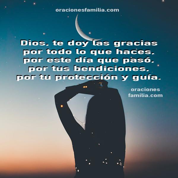 Oraciones cortas de la noche para dormir tranquilo, oración antes de descansar, oraciones de gracias por la noche de reposo por Mery Bracho