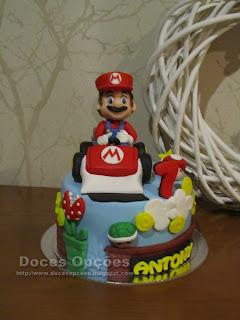 Bolo de aniversário Mario Kart