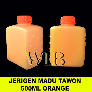 JERIGEN MADU TAWON 500ml HDPE WARNA ORANGE