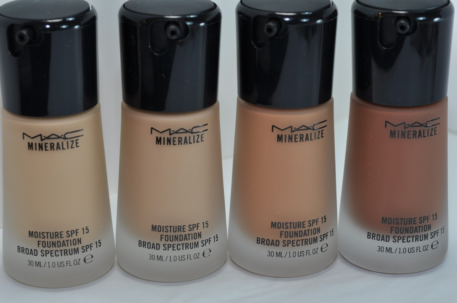 Mac Mineralize Moisture Spf 15 Foundation Swatches Review The