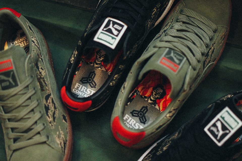 free shipping dfdab 9b029 Puma Clyde  First Contact  by SBTG   Mita Sneakers. Here is a super limited  custom releases from the good people over at the legendary SBTG and Mita.