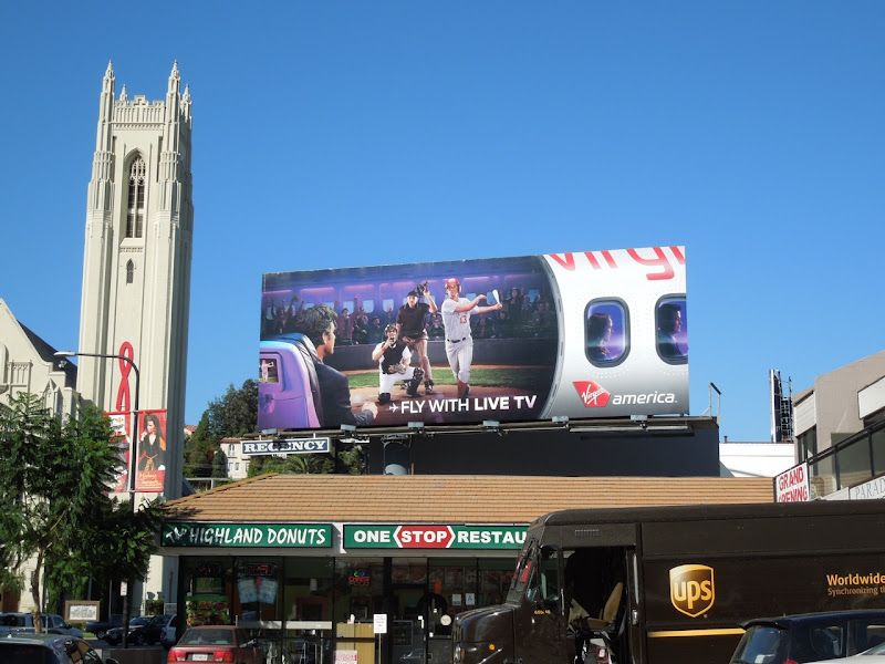 Fly TV Virgin America billboard