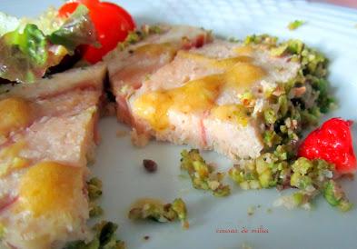 Pastel de pollo y jamón para el BBSS (TRX  / T / microndas)