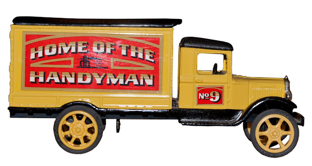 The ninth bank in Home Hardware's first series of truck bank collectibles.