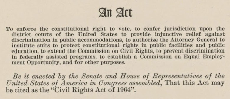 the 60s at 50 thursday july 2 1964 civil rights act of 1964