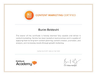 Online course for Content Marketing by Hubspot Academy