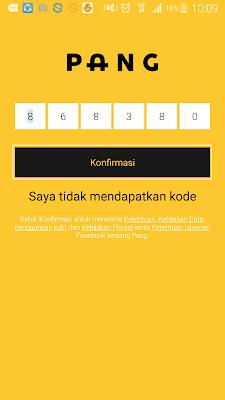 cara verifikasi nomor handphone di aplikasi pang android