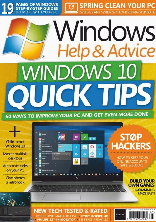 Pdf Magazine Download >> Windows Help Advice May 2019 Uk Pdf Magazine Download Pdf