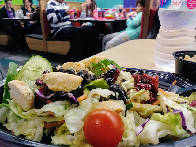 Eating healthy at Wow! @ChuckECheese