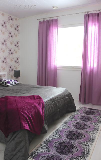 tekstiilit kanerva lila violetti harmaa Vallila